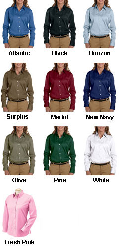 Chestnut Hill Ladies Long-Sleeve Twill Dress Shirt - All Colors