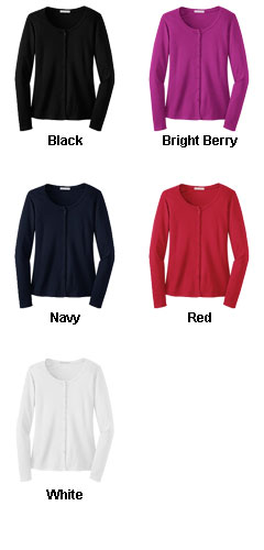 Ladies Silk Touch� Interlock Cardigan - All Colors