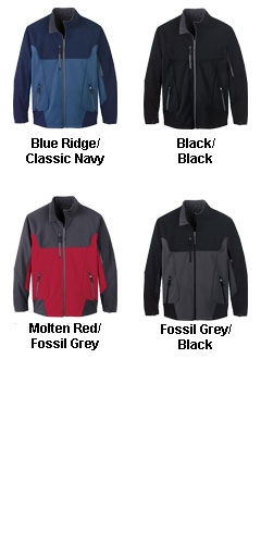 Mens Color-Block Soft Shell Jacket - All Colors