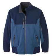 Custom Mens Color-Block Soft Shell Jacket Mens