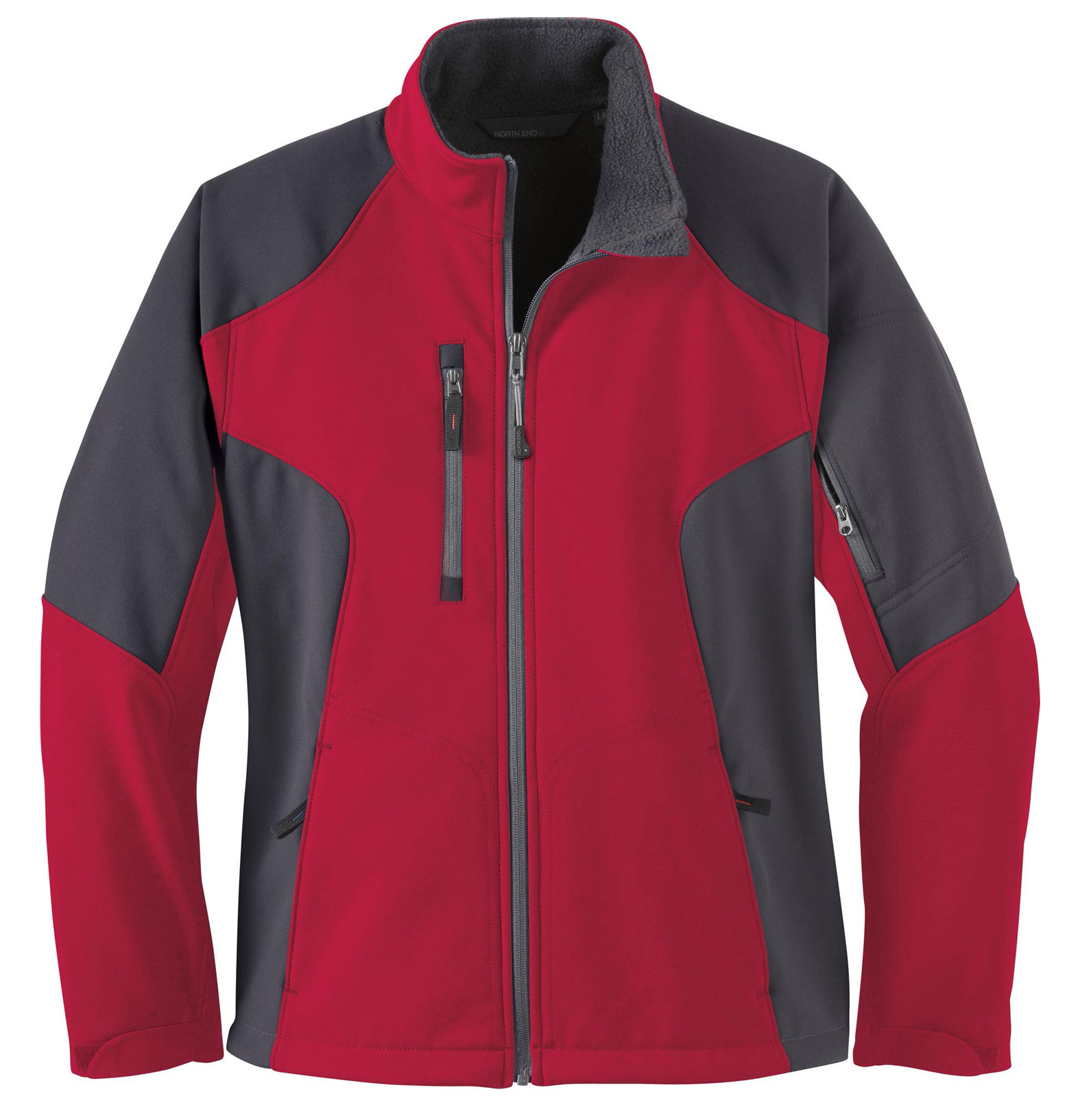 Ladies Color-Block Soft Shell Jacket