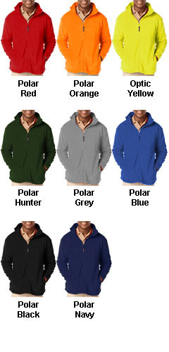 Mens Full Zip Polar Fleece Jacket - All Colors