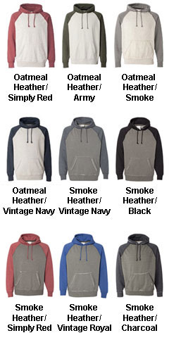 J. America  Vintage Heather Hooded Sweatshirt - All Colors