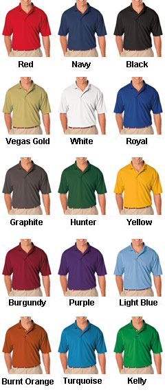 Mens Moisture Wicking Polo with 3M Scotchgard Protection  - All Colors
