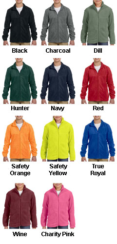 Youth 8 oz. Full-Zip Fleece - All Colors