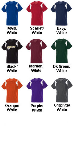 Adult Pickoff Two-Button Baseball Jersey - All Colors