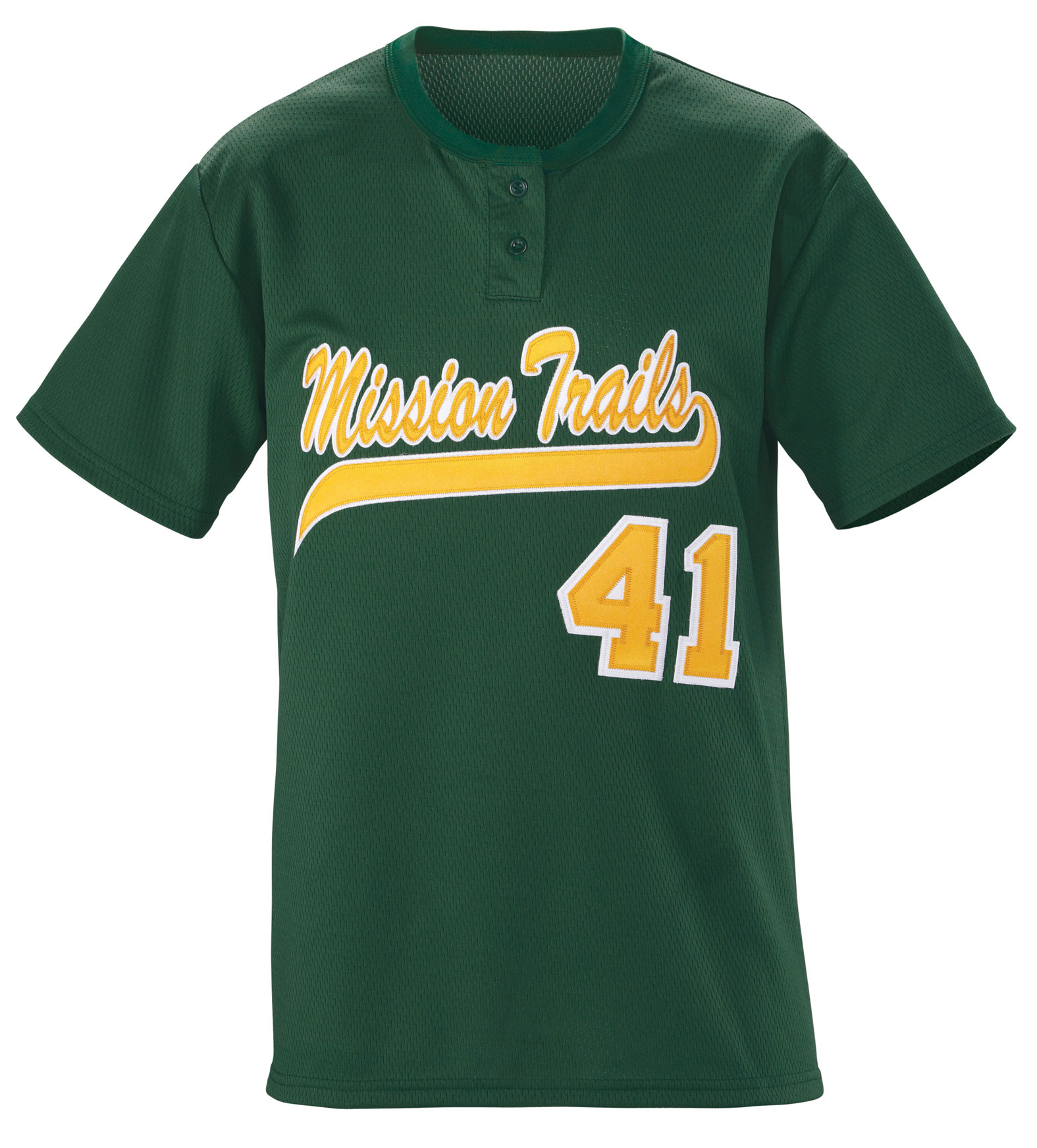 Adult Slugger Solid 2-Button Baseball Jersey