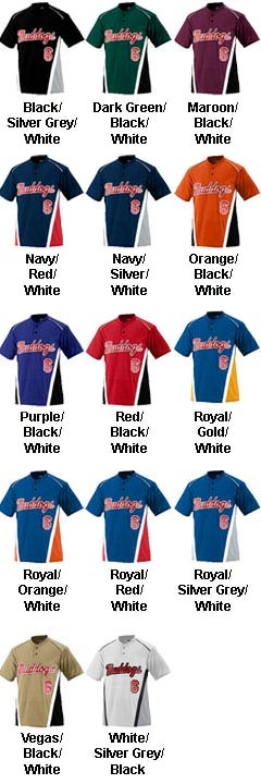 Youth RBI Colorblock Baseball and Softball Jersey - All Colors