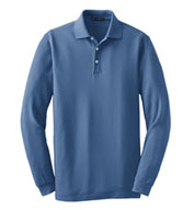Custom Long Sleeve EZCotton� Pique Polo Mens