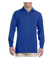 Custom Jerzees Mens Long-Sleeve 50/50 Jersey Knit Polo with SpotShield�