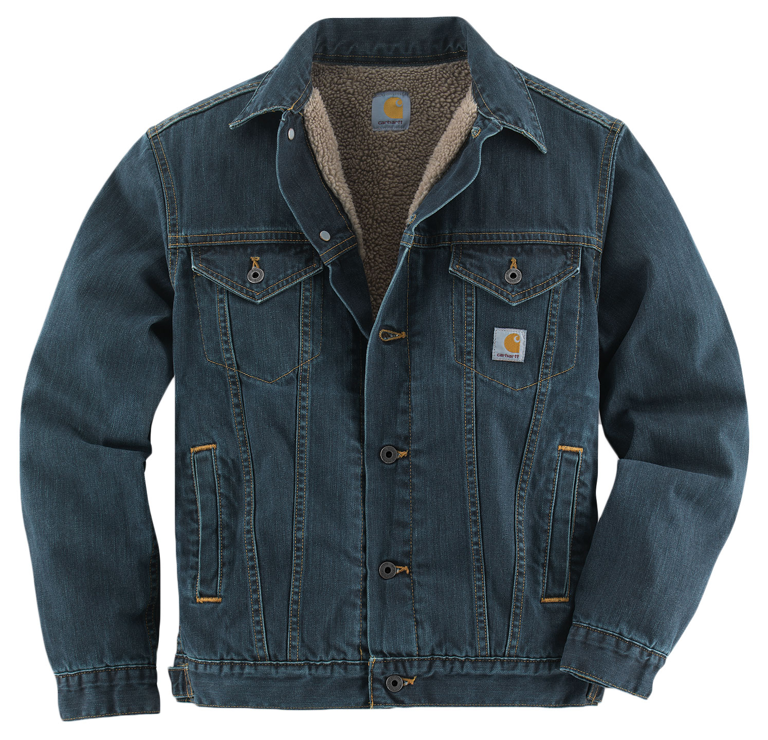 Carhartt Mens Denim Jean Jacket/Sherpa Lined