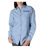 USPS Ladies Denim Long Sleeve Shirt