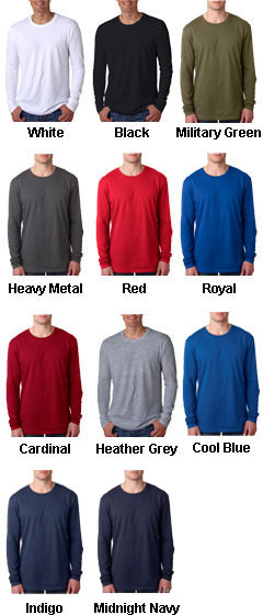 Next Level Mens Long-Sleeve Cotton Crew - All Colors