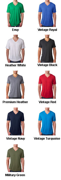 Next Level Adult Tri-Blend V-Neck Tee - All Colors