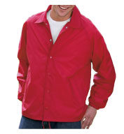 Custom Adult Nylon Flannel Coaches Jacket Mens