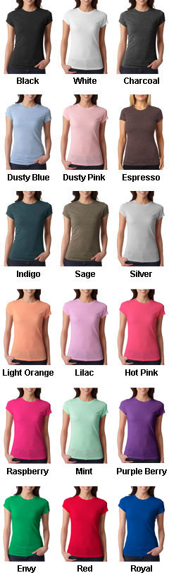 Next Level Ladies Poly/Cotton Crew Neck Tee - All Colors