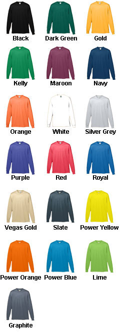 Youth Wicking Long Sleeve T-shirt - All Colors