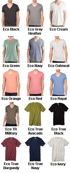 Alternative Unisex 4.4 oz Tri-blend Boss V-Neck Tshirt - All Colors