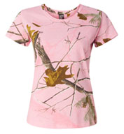 Ladies Realtree Camouflage T-Shirt by Code V