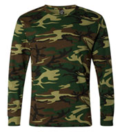 Custom Adult Code V Camouflage Long-Sleeve T-Shirt