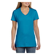 Hanes Ladies 4.5 oz Ringspun Cotton Nano-T® V-Neck T-Shirt