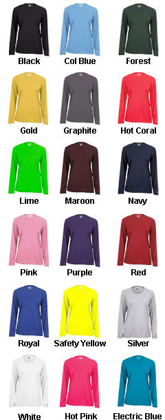 Badger B-Core Ladies Long Sleeve T-shirt - All Colors
