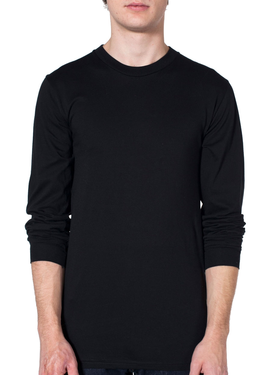 American Apparel Organic Fine Jersey Long Sleeve T-Shirt