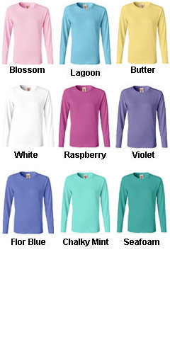 Pigment-Dyed Ladies Long Sleeve T-shirt - All Colors