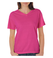 Custom Comfort Colors Ladies V-Neck Pigment Dyed Tee