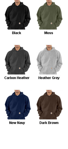 Mens Carhartt Midweight Hooded Pullover Sweatshirt - All Colors