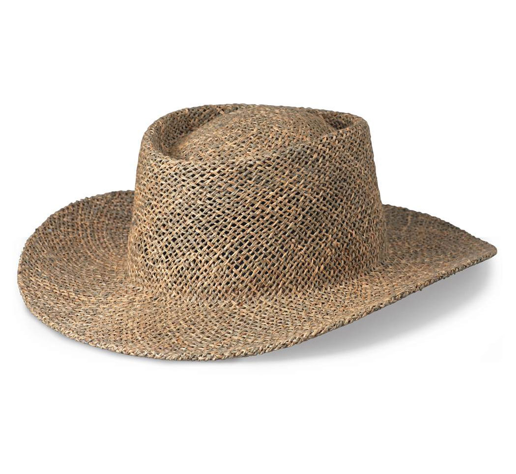 Gambler Straw Hat with Underbrim Sun Protection