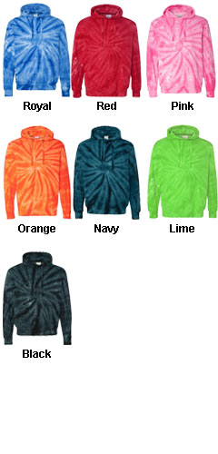 Adult Cotton Tie-Dyed Hoodie - All Colors