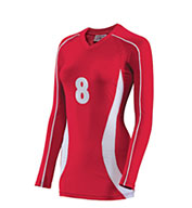 Custom Teamwork Girls Cobra Long Sleeve Volleyball Jersey