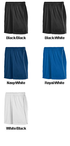 Augusta Adult Wicking Short with Piping  - All Colors