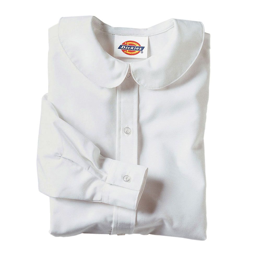 Girls Long Sleeve Peter Pan Collar Blouse by Dickies