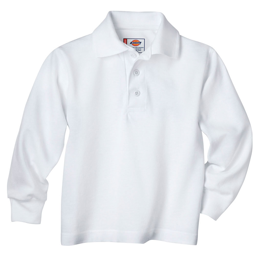 Kids Long Sleeve Pique Polo Shirt by Dickies