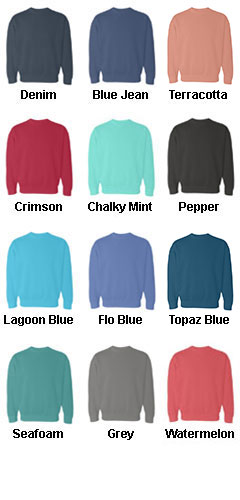 Pigment Dyed Crewneck Sweatshirt - All Colors