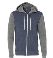 Alternative Apparel Rocky Color-Blocked Full-Zip Hoodie
