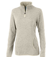 Custom Ladies Soft Heathered Fleece Pullover By Charles River Apparel