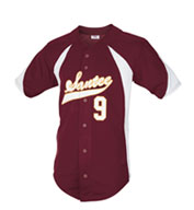 Teamwork Youth Mustang Full Button Baseball Jersey