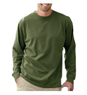 Mens 100% Organic Cotton Classic Long-Sleeve T-Shirt