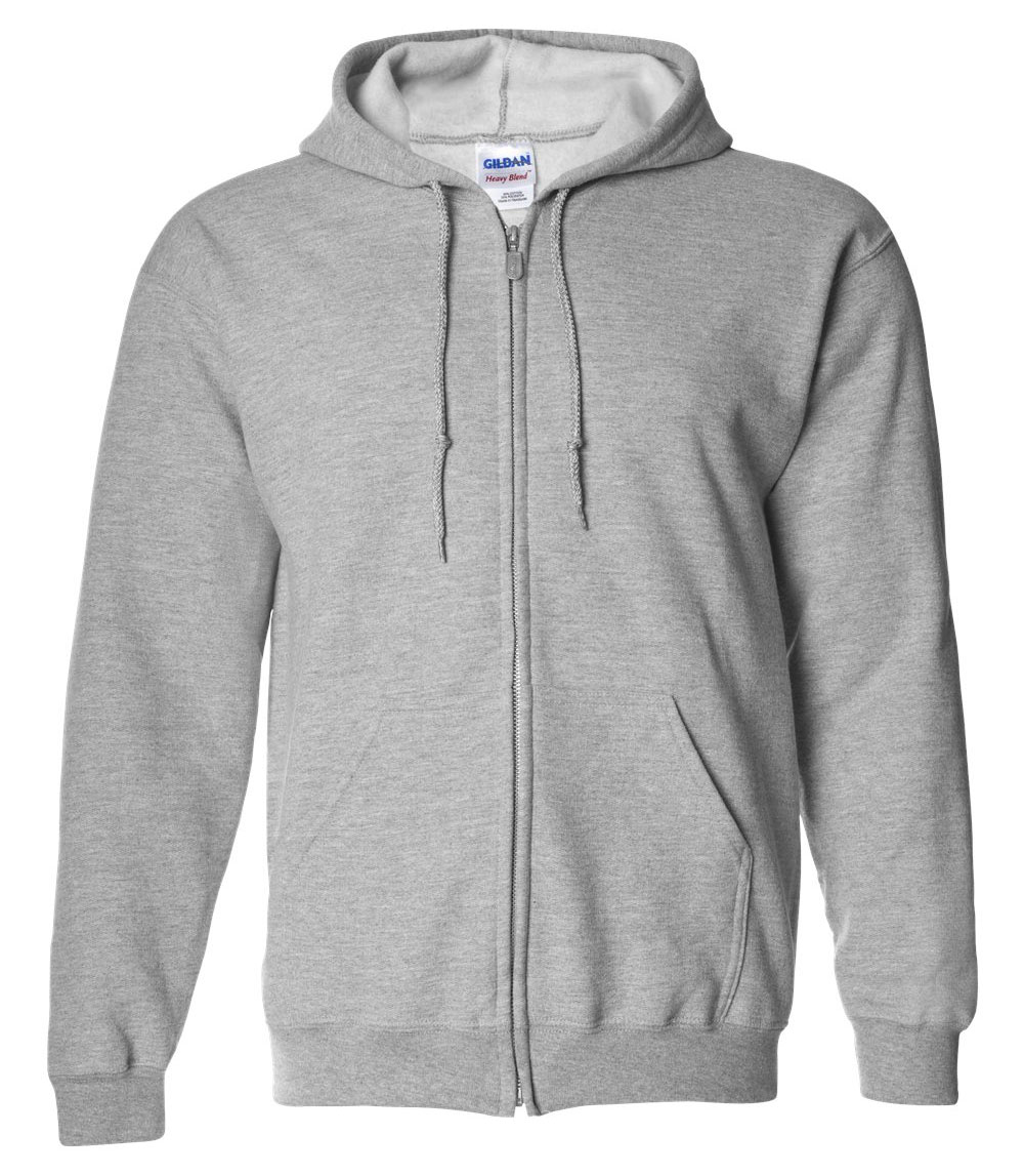 Gildan Heavy Blend Mens Full Zip Hooded Sweatshirt