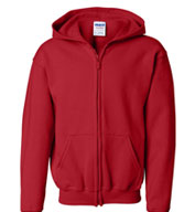 Gildan Heavy Blend Youth Full Zip Hooded Sweatshirt