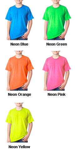 Gildan Youth Neon Solid Pigment-Dyed Tee - All Colors