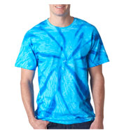 Gildan Adult Tie-Dye Neon One-Color Pinwheel Tee