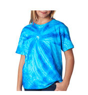 Custom Gildan Youth Tie-Dye Neon One-Color Pinwheel Tee