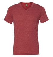 Eco Jersey Feeder Stripe V-Neck T-Shirt