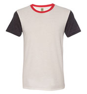 Custom Alternative Apparel Eco-Jersey Colorblocked Crewneck T-Shirt Mens