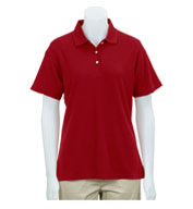 Custom Greg Norman Womens Easy-Care Pique Polo
