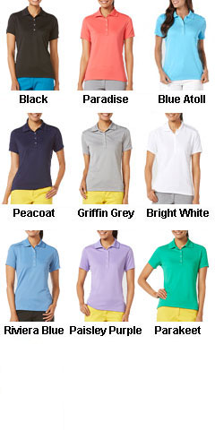 Callaway Ladies Micro Pique Chev Polo - All Colors